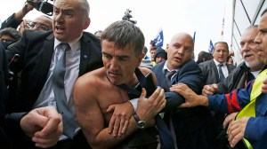 Air France executive rescued by security