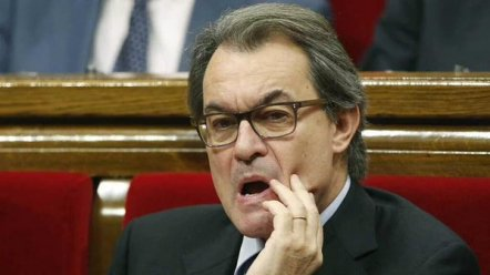 The embattled Catalan President, Artur Mas