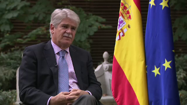 Spanish foreign minister interview on Catalan independence